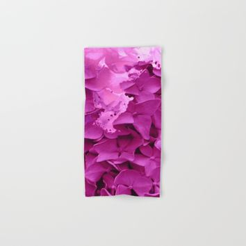 through the purple hydrangea Hand & Bath Towel by clemm