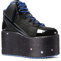 The YRU Qozmo Hi Shoe in Space Print