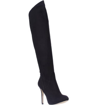 Guess Enesta2 Knee-High Heel Boots - Black