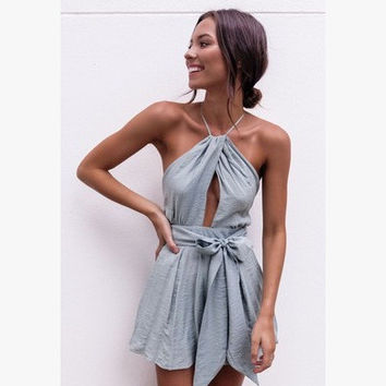 Sexy Backless Romper [10174797069]