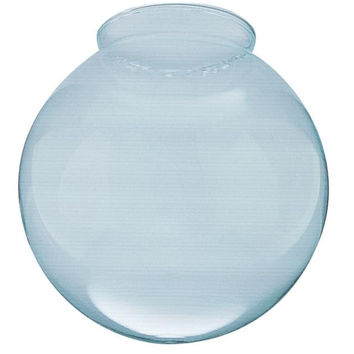 3-1/4-Inch Handblown Gloss Clear Lustre Glass Globe, 6-Pack