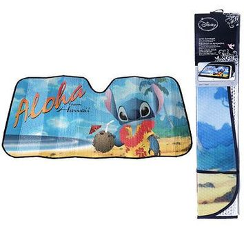Licensed Official New Lilo Stitch Aloha Hawaiian Car Truck Windshield Folding Sun Shade Large Size