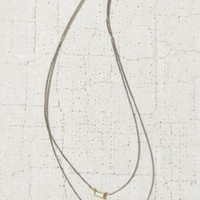 Stone + Triangle High/Low Necklace