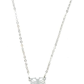 Ribcage Necklace in Solid White