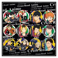 1pcs  58MM Anime Badge Haikyuu Hinata Syouyou kageyama tobio sawamura daichi Badge Pin Brooch Backpack Badge Fans pin