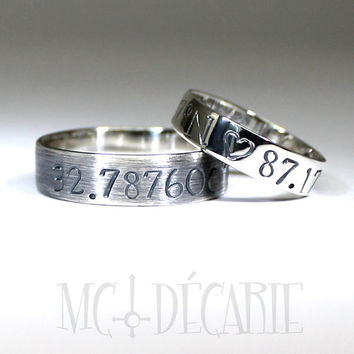 His and Hers: 5mm - 6mm ring band set, 1 engraving included on each ring, 2 ring band set, wedding rings, wedding band, personalized ring