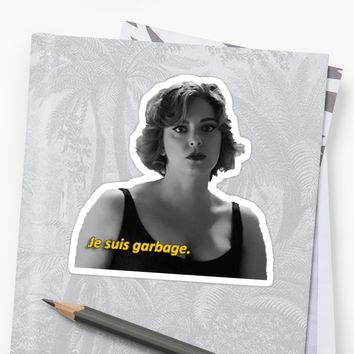 'je suis garbage - crazy ex-girlfriend' Sticker by electricgal