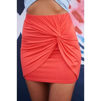 Distant Love Skirt (Bright Red)
