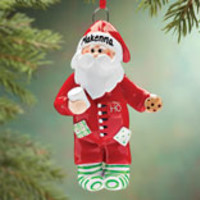 Personalized Pajama Santa Ornament