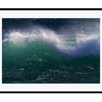 Large Water Photography, Large Art, Turquoise Ocean Print, Coastal Wall Art, Abstract Seascape Wall Decor, Surf Decor