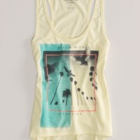 AEO Women's Photo Graphic Tank (Chill Lemonade)