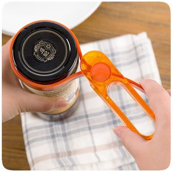 adjustable Jar Opener Container Bottle Opener Lid Can Tin Cap remover Kitchen tool Plastic kitchenware bar tools