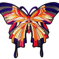 XXL Extra Large 32cm Summer Butterfly Patch Badge Applique