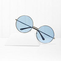 Almost Famous Round Shades - Blue