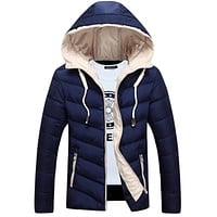 Autumn Winter Hooded Hombre Thick Waterproof Medium Long Stylish Winter Jackets Men