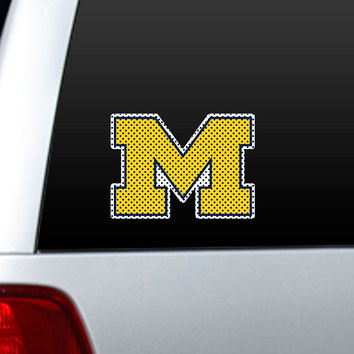 Michigan Wolverines Die-Cut Window Film - Large