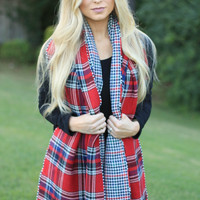 Double Take Plaid Scarf
