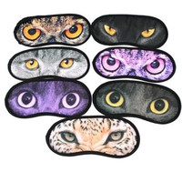 1Pcs Animal Printed Sleep Eye Mask Eye-shade Cover Travel Aid Sleeping Eye blindfold = 1930001284