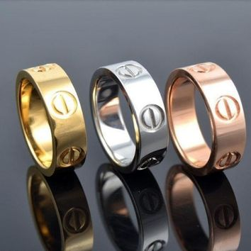 DCCKFM6 New Fashion Jewelry Screw Shape 3 Color Stainless Steel Unisex's Ring Best Gift! £¨With Thanksgiving&Christmas Gift Box£©= 1930098116