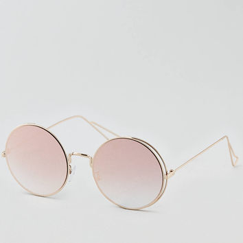 AEO Round Sunglasses , Rose Gold