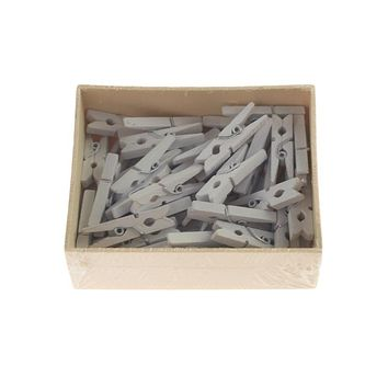 Mini Wooden Clothespins, 1-1/4-Inch, 50-Count, White