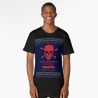'Rock and Roll Christmas' Long T-Shirt by hypnotzd