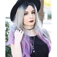 Orchid Long Wave Synthetic Lace Front Wig