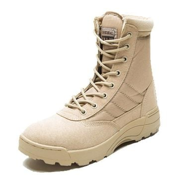 Genuine Leather Midcalf Tactical Combat Boots