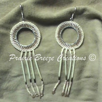 Native American Porcupine Quill Earrings - Contemporary