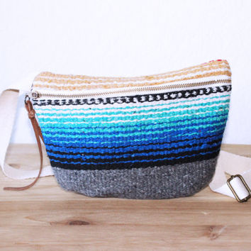 Fanny Pack / Belt Bag/ Hip Bag / Purse/ Bum Bag/ Mexican Blanket Rio Bravo/ Bohemian Style