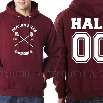 Hale 00 CROSS Beacon Hills Lacrosse Teen Wolf Unisex Hoodie S to 3XL