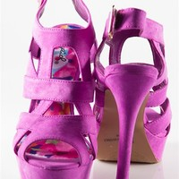 Strappy Platform Heel - Magenta from Casual & Day at Lucky 21 Lucky 21
