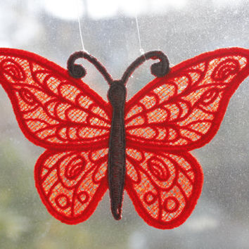 Butterfly - Custom Embroidery , Handmade in USA