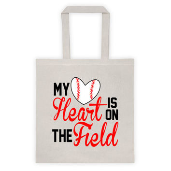 My Heart Is On The Baseball Field Tote bag