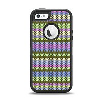 The Colorful Knit Pattern Apple iPhone 5-5s Otterbox Defender Case Skin Set