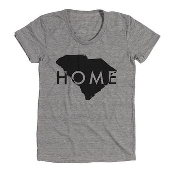 South Carolina Womens Athletic Grey T Shirt - Graphic Tee - Clothing - Gift