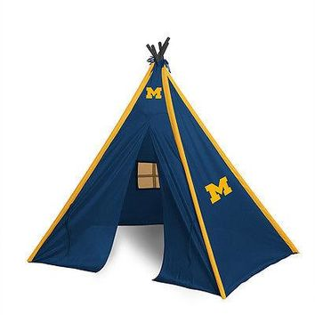 Michigan Wolverines Teepee Play Tent