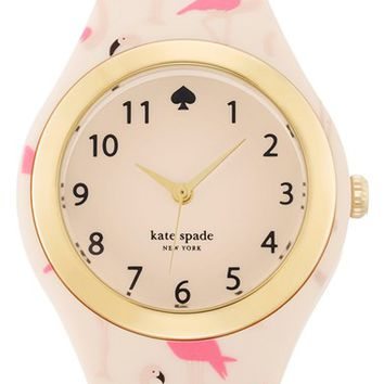 Women's kate spade new york 'rumsey' plastic strap watch, 30mm - Pink Flamingo/ White