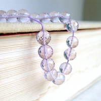 Pink Amethyst Gemstone Round  Faceted Disco Ball 6.5mm 17 beads
