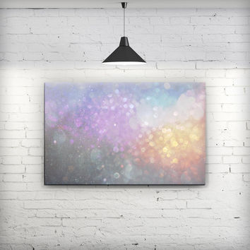 Tie Dye Unfocused Glowing Orbs of Light - Fine-Art Wall Canvas Prints