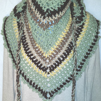 Frosty Green Road Trip Scarf Ladies Scarf Mens Scarf Triangle Scarf the Perfect Holiday Birthday Sweetest Gift Scarves for Her Him Mom Dad
