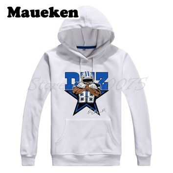 Men Hoodies dallas #88 Dez Bryant Sweatshirts Hooded Thick Lace-up for cowboy fans gift Autumn Winter W17100612