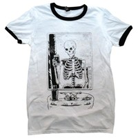 Skelfie Ringer Shirt