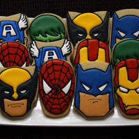 Superhero Cookies by CaseysConfections on Etsy