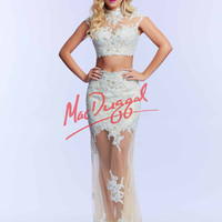 Lace Crop Top Mac Duggal Prom Dress 61919M