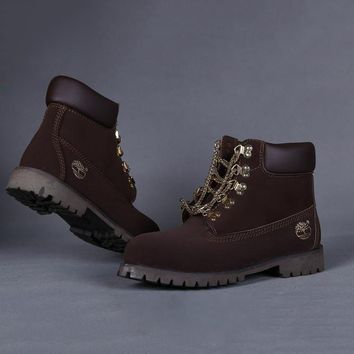 One-nice™ Timberland Women Leather Lace-Up Waterproof Boots Shoes