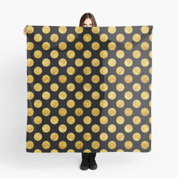 Faux gold polka dots by mrhighsky