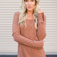 Button Cuff Long Sleeve Thermal Shirt