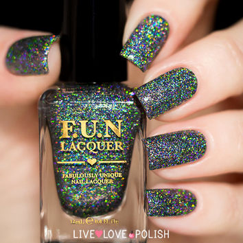 FUN Lacquer Black Holo Witch (H) (Simplynailogical Collection) (PRE-ORDER SHIP DATE 8/30/16)