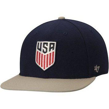 Licensed Sports US National Team '47 Two-Tone No Shot Captain Hat - Navy KO_20_2